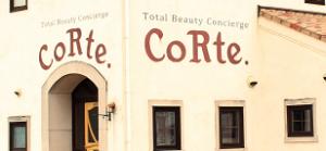 倉敷の美容室CoRte. leaf店の外観